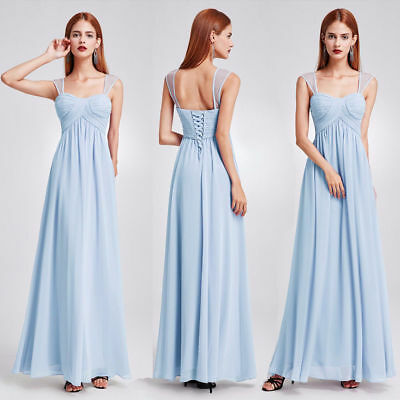 Ever-Pretty Girls Backless Cocktail Party Dress Bridesmaid Dresses Blue 08863