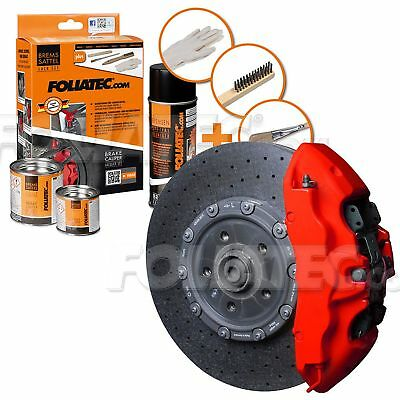 Painting Brake Caliper High Temperature 300 °C Foliatec Ft2175 Matt Red