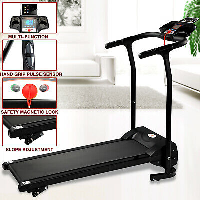 Folding 1100W Electric Motorized Treadmill Portable Running Fitness Machine Gym