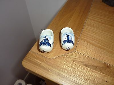 Pair of Vintage  Hand painted Delft Clogs