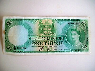 1965 Government Of Fiji One Pound Note - Circulated