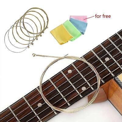 Acoustic Electric Guitar Strings Standard Set of 6 - Guitar Clean Cloth for Free
