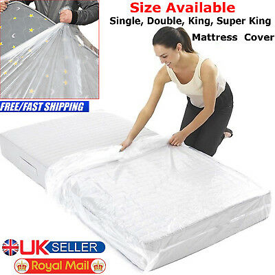 Single Double King Super Bed Mattress Bag Dust Protector Storage Cover 400 Gauge