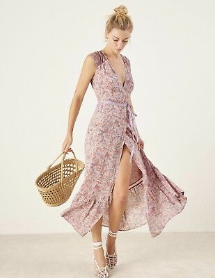 1fc755c91878 NEW SOLD OUT Reformation Haven Maxi Wrap Dress Size MEDIUM Size 8 MSRP 218