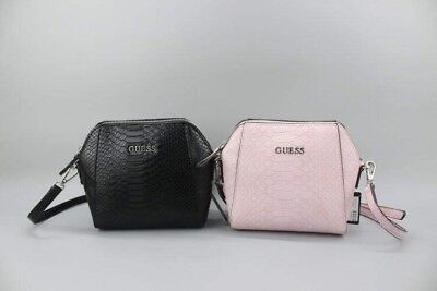 Mini Crossbody Message Handbag Black/Pink Andover Snake Embossed Pattern Bags