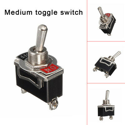 10pcs Toggle Switch Heavy Duty 20A 125V SPST 2 Terminal ON/OFF for Car Boat ATV