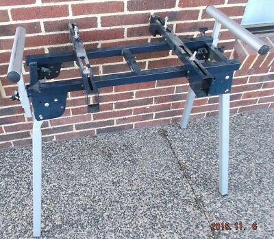 Portable Mitre Saw Stand with Folding Legs and Extendable Timber Supports