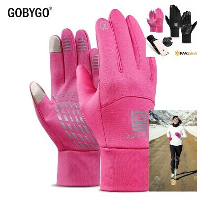 Ladies New style Running gloves for winter,3 sizes-S,M,L,touchscreen,pink,