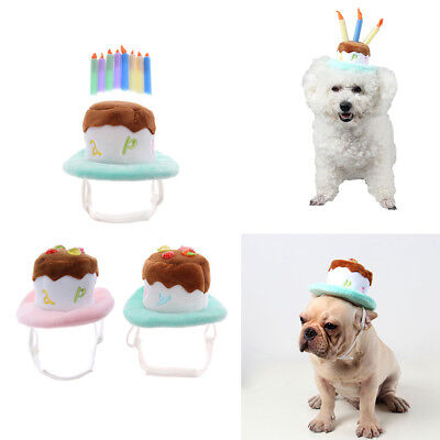 Pet Birthday Hat For Dogs Cats Puppy Party Costume Headress Headwear Accessory