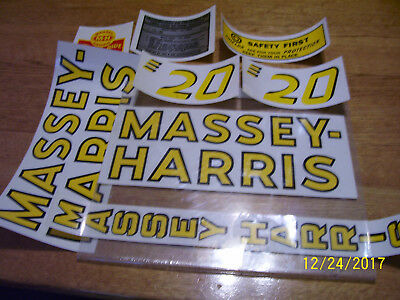 Vintage  Massey Harris Tractor  # 20  Decal Set - New