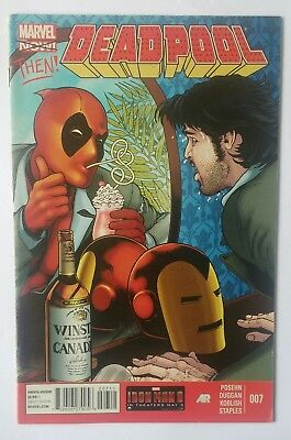 marvel now Deadpool vol 4 #7 key issue Tony Stark demon in a bottle comic book