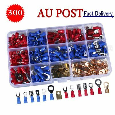 300Pcs Electrical Wire Terminals Assortment Kit Insulated Crimp Connectors Kit