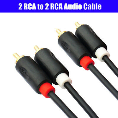 2RCA Male to 2RCA Male Audio Cable Gold-plated For Laptop HDTV DVD VCD Amplifier