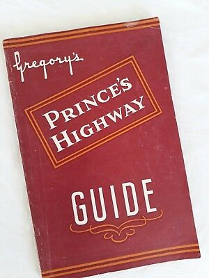 1940s Gregory's Prince's Highway Guide & Maps ~Sydney-Melbourne,NSW South Coast~