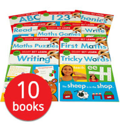 Ready Set Learn Wipe-Clean Workbook Collection with Pen - 10 Books