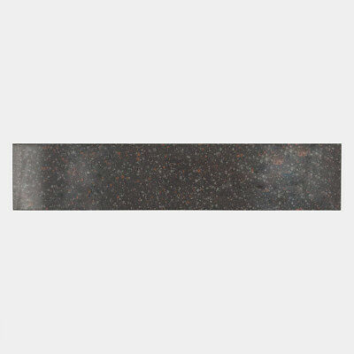 FRABER battiscopa in ceramica gres porcellanato BLACK A17 8x40 cm effetto marmo
