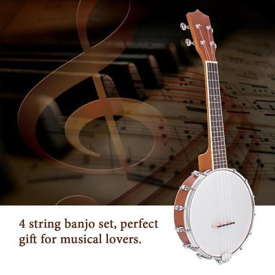 4-string Banjo Exquisite Pro Maple Wood Rosewood Alloy Musical Instrument Kit