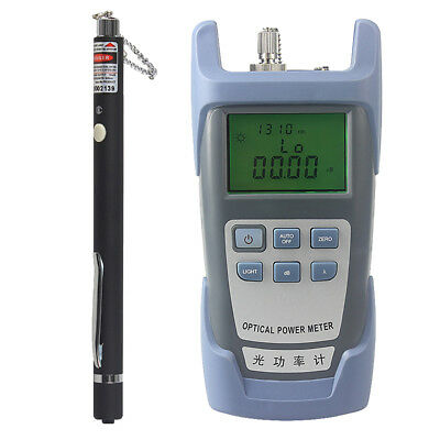 AUA-9 Optical Fiber Power Meter Tester + 10mW Visual Fault Locator Pen