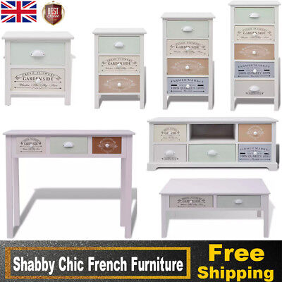 Shabby Chic Cabinet Storage Sideboard TV Stand Coffee Console Table with Drawers