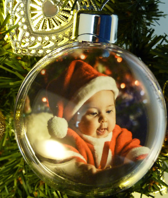 Personalised My First Christmas Photo Bauble | Christmas Tree Decoration