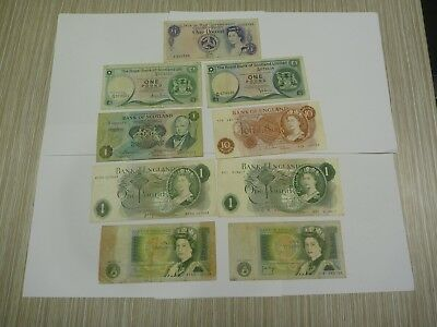 9 British, Scottish and Isle of Man notes for sale