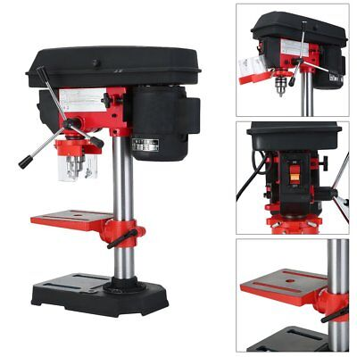 CATUO Bench Top 5 Speed Pillar Drill Press & Table Stand 13mm Chuck 230v
