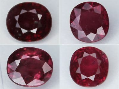 Natural Ruby Cushion Cut Loose Gemstone Many Sizes 6mm 6.5mm 7.5mm VS - SI 1pc