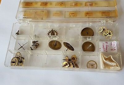 Assorted Clock Parts Swiza,Europa,Enicar Junghans,Kienzle etc
