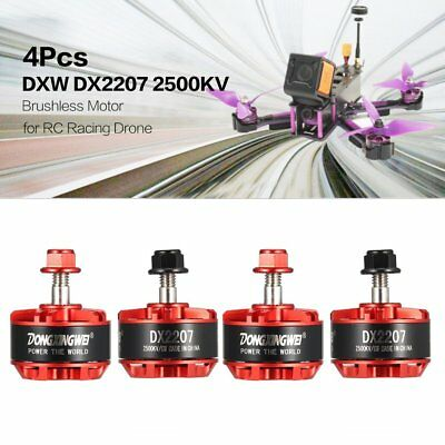 4Pcs DXW DX2207 2500KV 3-6S CW/CCW Brushless Motor for RC Drone MulticopterQS