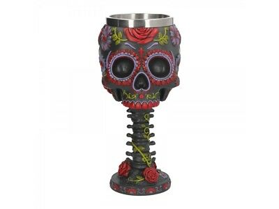 Nemesis Now Sugar Blooms Goblet day of the Dead Wine Cup Gothic Decor Gift Xmas