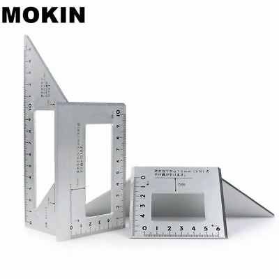 Aluminum Alloy Square Angle Ruler 45 degrees 90 degrees Gauge Protractor For Mul