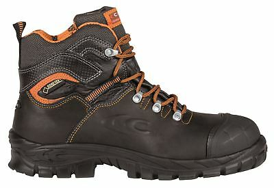 Cofra Galarr S3 WR SRC Gore Tex Lace Up Black Toe cap Midsole Safety Boots Black