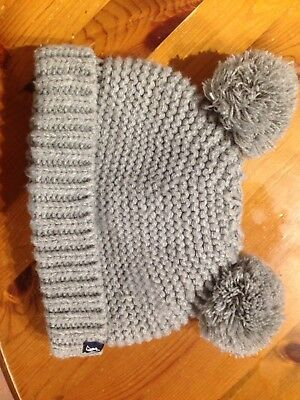 Joules Wool Hat Baby Pom Poms 6-12 Months
