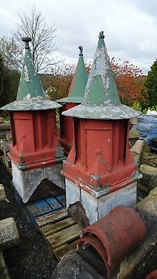Reclaimed victorian lead and aluminium cupolas x3
