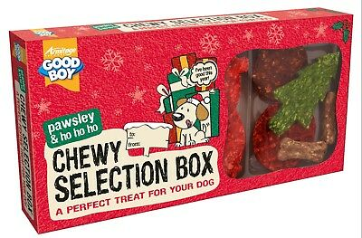 Armitage Dog Christmas Chewy Selection Box Rawhide Treat Pack Festive Gift