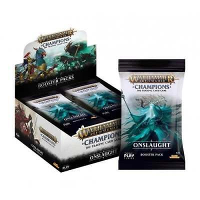 WARHAMMER AOS: CHAMPIONS * Onslaught Booster Box *PRE-ORDER*