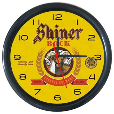 Shiner Bock Cola Beer Beverage Bar Pub Club Round Wall Clock