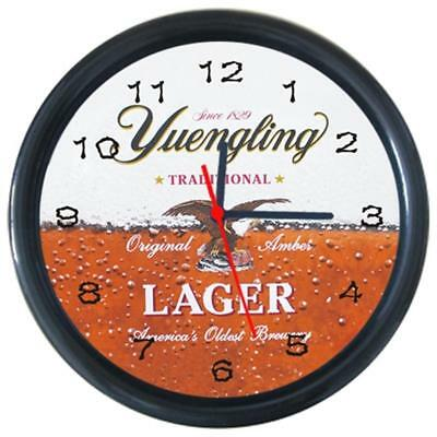 Yuengling Patten #1 Cola Beer Beverage Bar Pub Club Round Wall Clock
