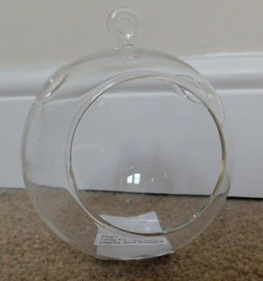 Laura Ashley small glass terrarium with hanging loop new and boxed