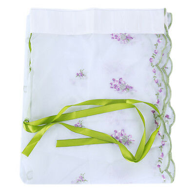 Floral Embroidered  Voile Window Curtain Sheer Curtain Panels For Bedroom N7