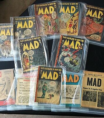 MAD magazine earliest issues 1952 (12 of the first 16)