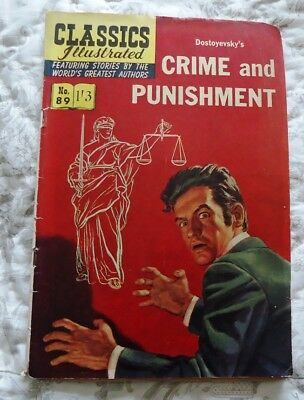 Classics Illustrated #89  Crime and Punishment by Dostoyevsky