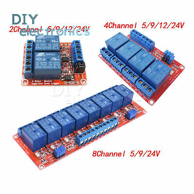 2CH/4CH/8CH Channel Relay Module Board With Optocoupler H/L Level Triger 5V-24V
