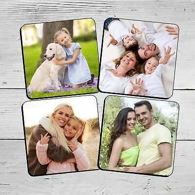 Personalised Photo Coasters - Your Image, Photo, Text, Logo. Wine Drinks Tea Mat