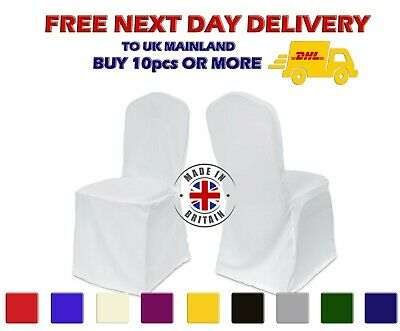 Polyester Chair Cover Square Round Top Heavy Duty Dining Covers Loose Bottom Fit