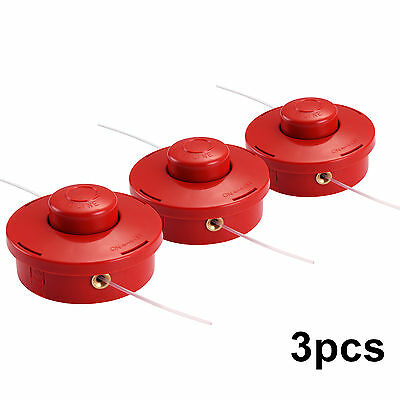 3pcs Universal Strimmer Brushcutter Bump Feed Line Spool Head Fits Brush Cutters
