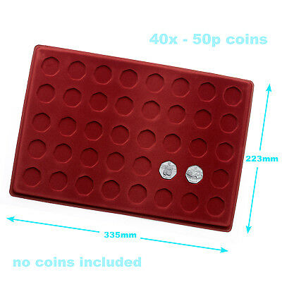 New 50p Coin Collection Red Tray Numismatics made by SCHULZ