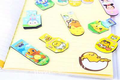 18pcs Pokemon Gudetama Metal Bookmark Reading Book Marks Kids Gift