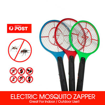 1/2/3X Electronic Fly Swatter Mosquito Bug Insect Kill Zapper Racket RANDOM COLO