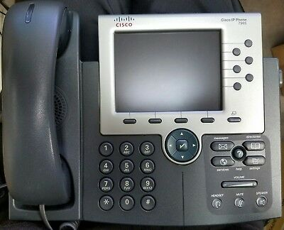 Cisco 7965 IP Office Phone Color LCD w/ Handset and Stand FREESHIPPING